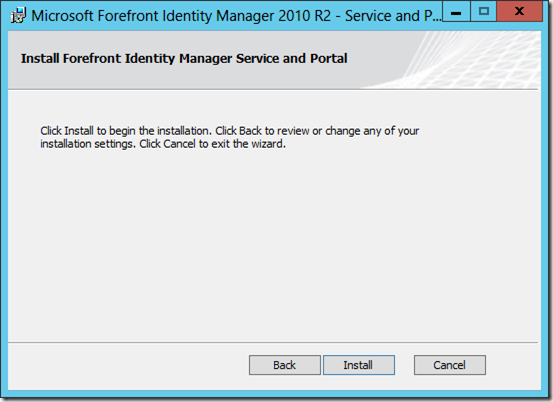 Configuring SharePoint 2013 for the Forefront Identity Manager 2010