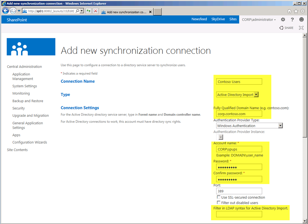 First Look: SharePoint Server 2013 Active Directory Import