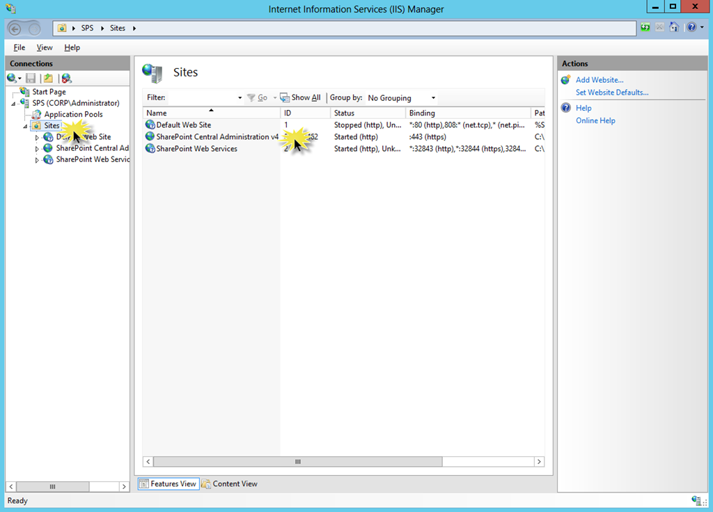 Using SSL for Central Administration with SharePoint 2013